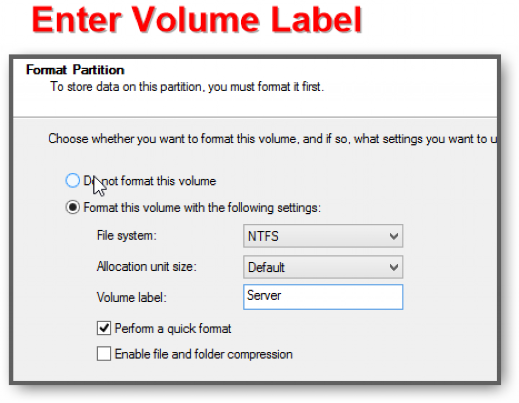 Enter-volume-label