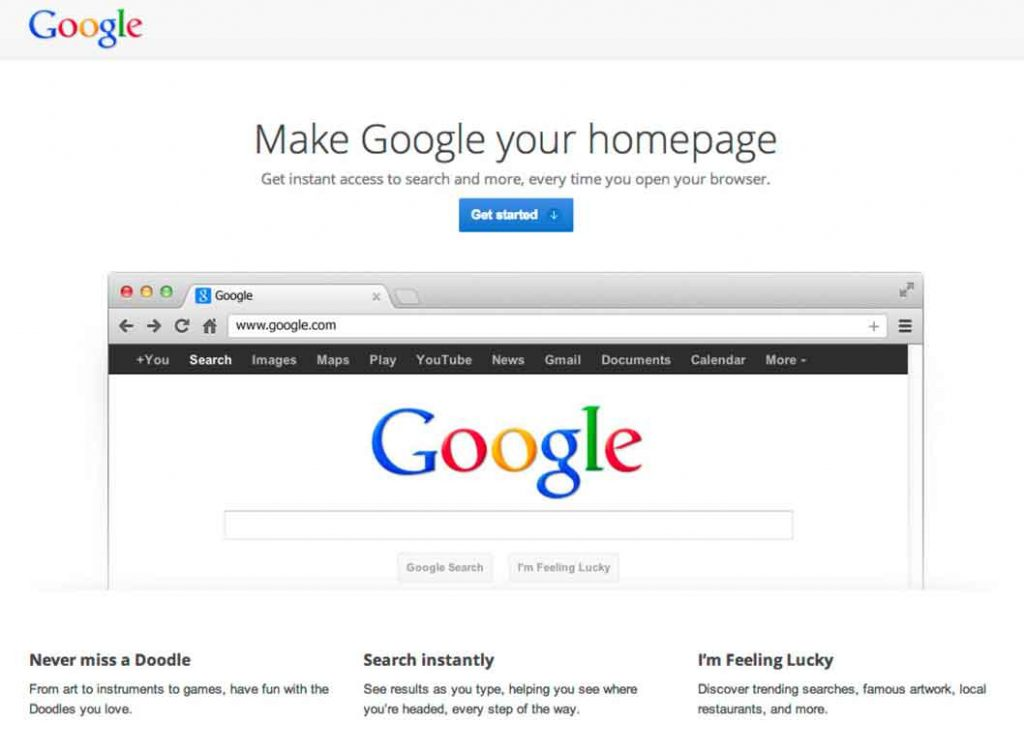 Google-As-Homepage