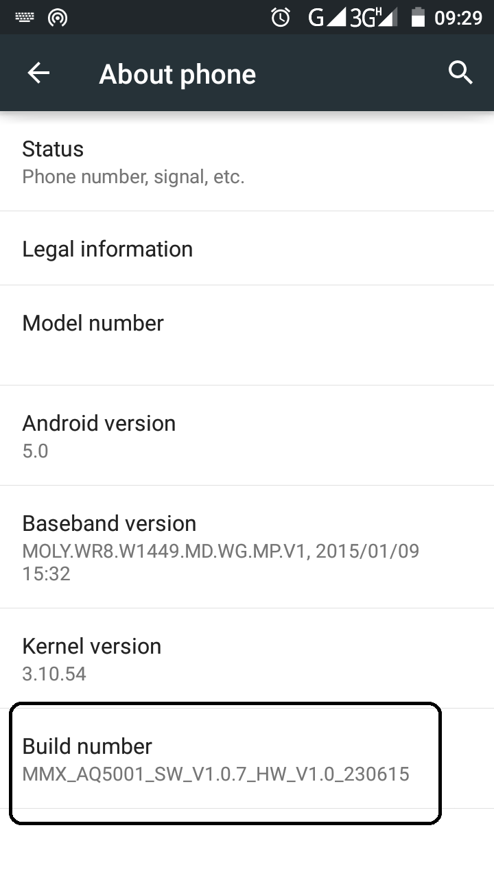 Kingo Anroid Root - Build Number Option